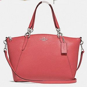 Coach Small Kelsey Satchel F28993 Coral/Silver